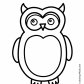Owl bird coloring page nature coloring page
