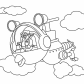 Agent OSO riding whirly bird, Special agent OSO