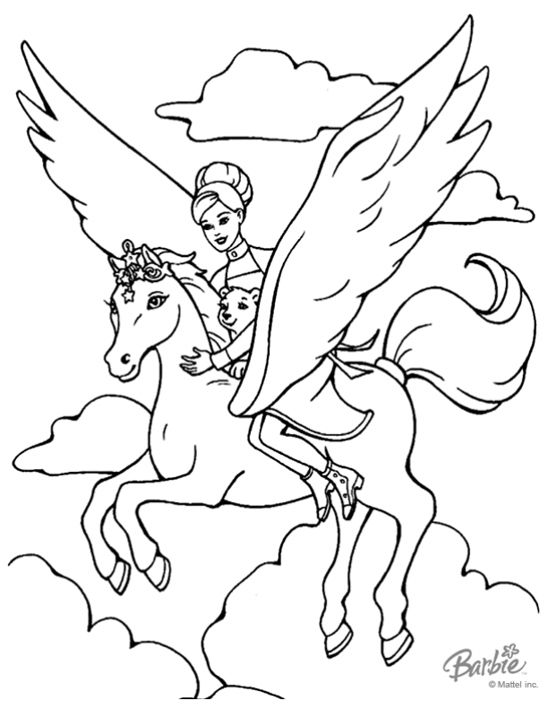 Atemberaubend Barbie Pegasus Malvorlagen Galerie - Malvorlagen ...