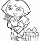 Dora with gifts