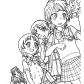 Girls from Pretty cure anime