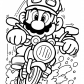 Mario on motorcycle