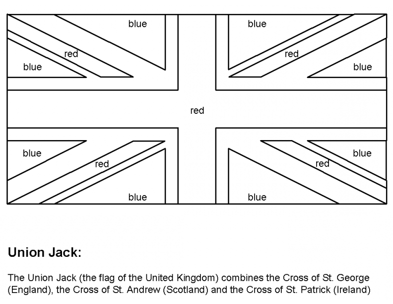 Flag Of Great Britain Coloring Page