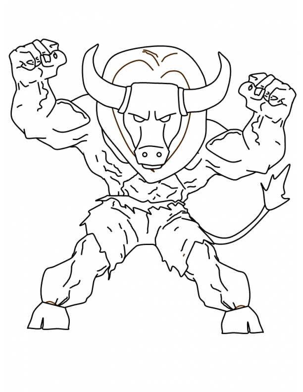 Stunning Ideas Mythical Creatures Coloring Pages 5 Greek Fabulous Minotaur Coloring Pages