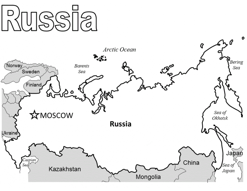 Index of ColoringPagesCountriesRussia