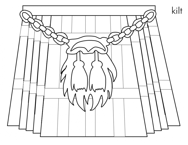Scottish Coloring Pages - Democraciaejustica