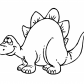 Funny stegosaurus dinosaur cartoon