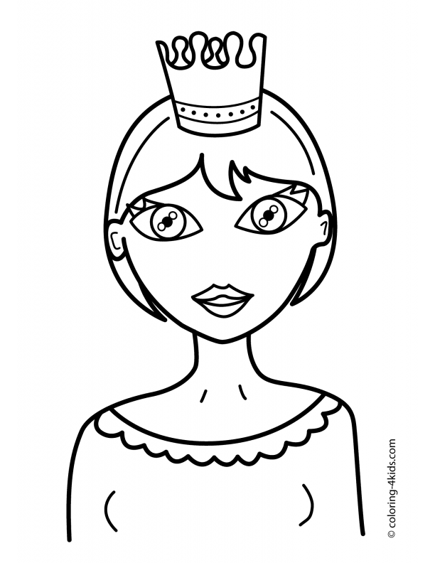 coloring crown nice coloring pages