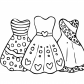 Cool dresses for girls coloring page
