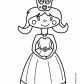 Cute Princesse Coloring pages for girls