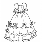 Dress with bows