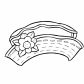 Hat for girls coloring page