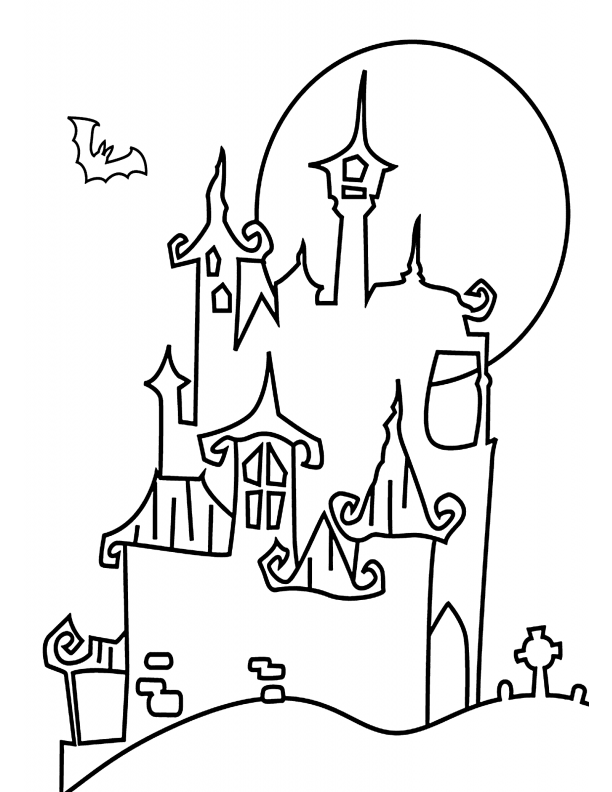 candy castle page coloring pages