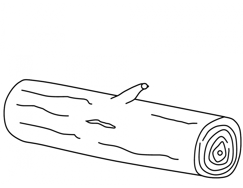 log coloring pages for kids - photo#16