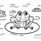Frog nature coloring page