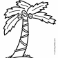 palm tree coloring page