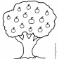 Nature apple tree coloring page