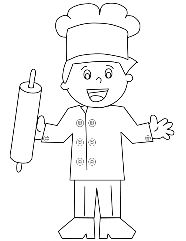 Butler And Baker Coloring Pages