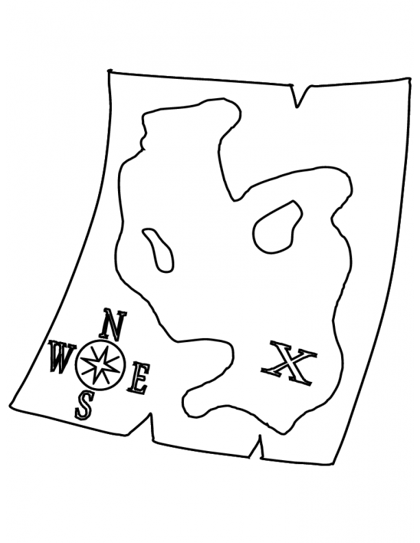 x marks the spot coloring pages - photo #26