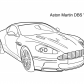 Super car Aston martin DBS v12 coloring page 4