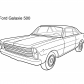 Super car Ford Galaxie 500 coloring page