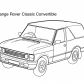 Super car Range Rover Classic Convertible coloring page
