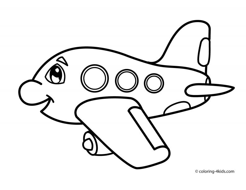 Simple Drawing For Toddlers Car Transportation Coloring